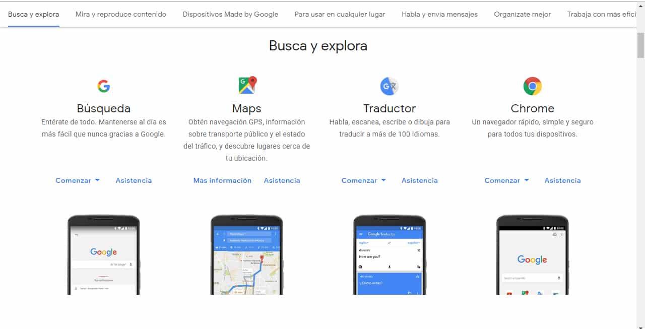 Google asistencia