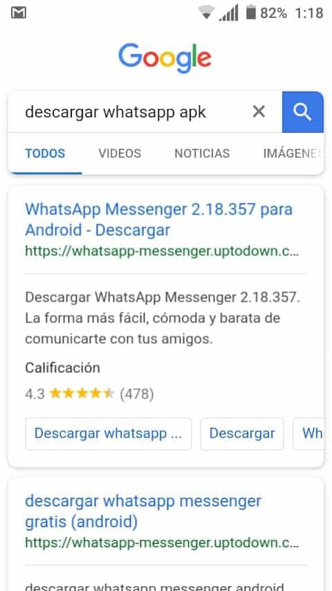 busqueda whatsapp apk