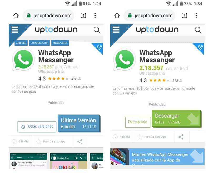 descargar whatsapp uptodown full