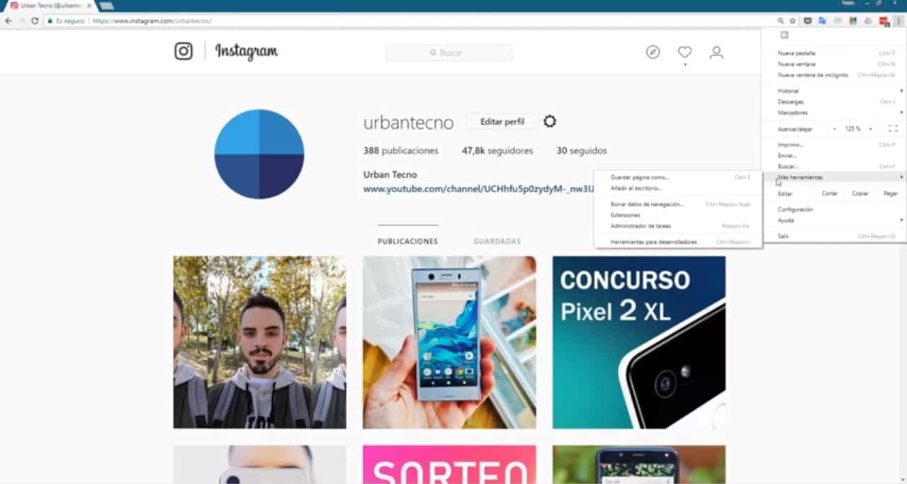 Instagram zum Desktop hinzufügen