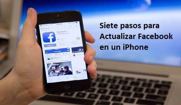 actualizar facebook en un iphone