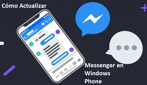actualizar facebook messenger en windows phone
