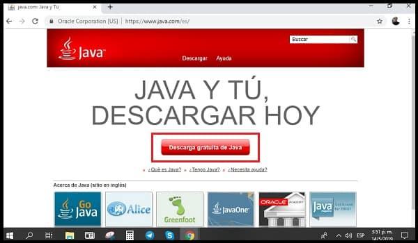 Connectez-vous au site officiel de Java