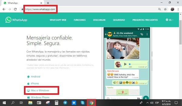 actualizar whatsapp web para ordenador