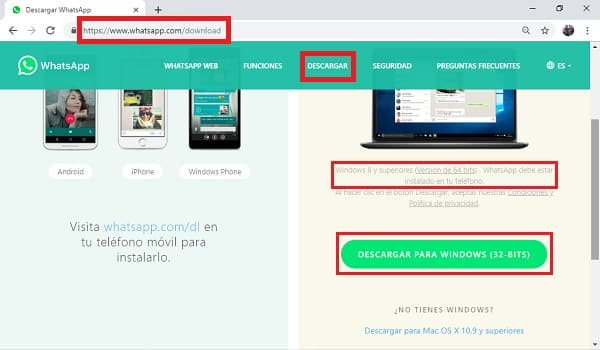 actualizar whatsapp web para tablet