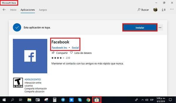 télécharger et installer facebook pour ordinateur